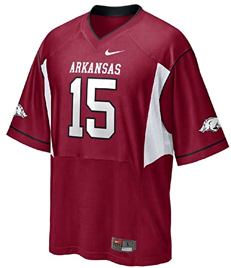 Amazon.com   Nike Arkansas Razorbacks 15 Boys Replica Football ... 9f8ec7c3d