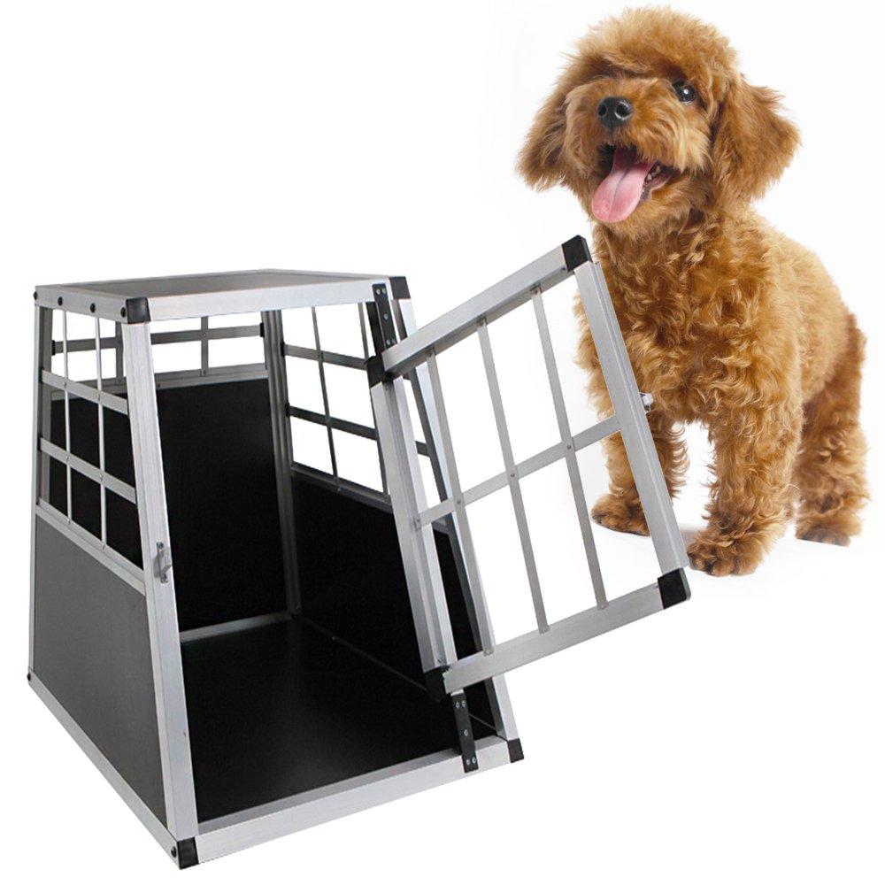 MCTECH Hundetransportbox Hundebox Autotransportbox Alubox Reisebox Gitterbox Hundek/äfig