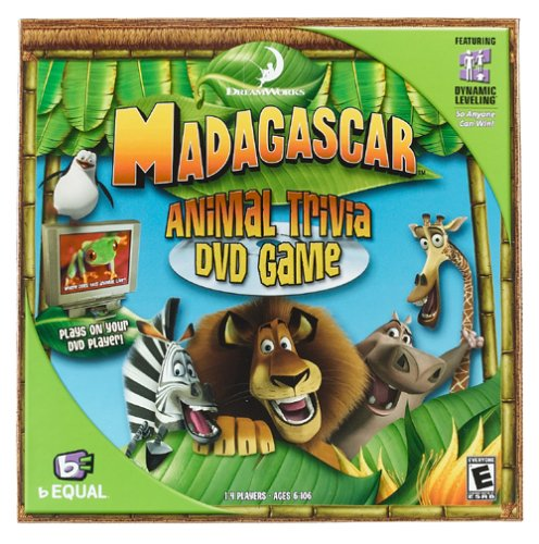 Amazoncom Madagascar Animal Trivia DVD Game by bEQUAL Video Games