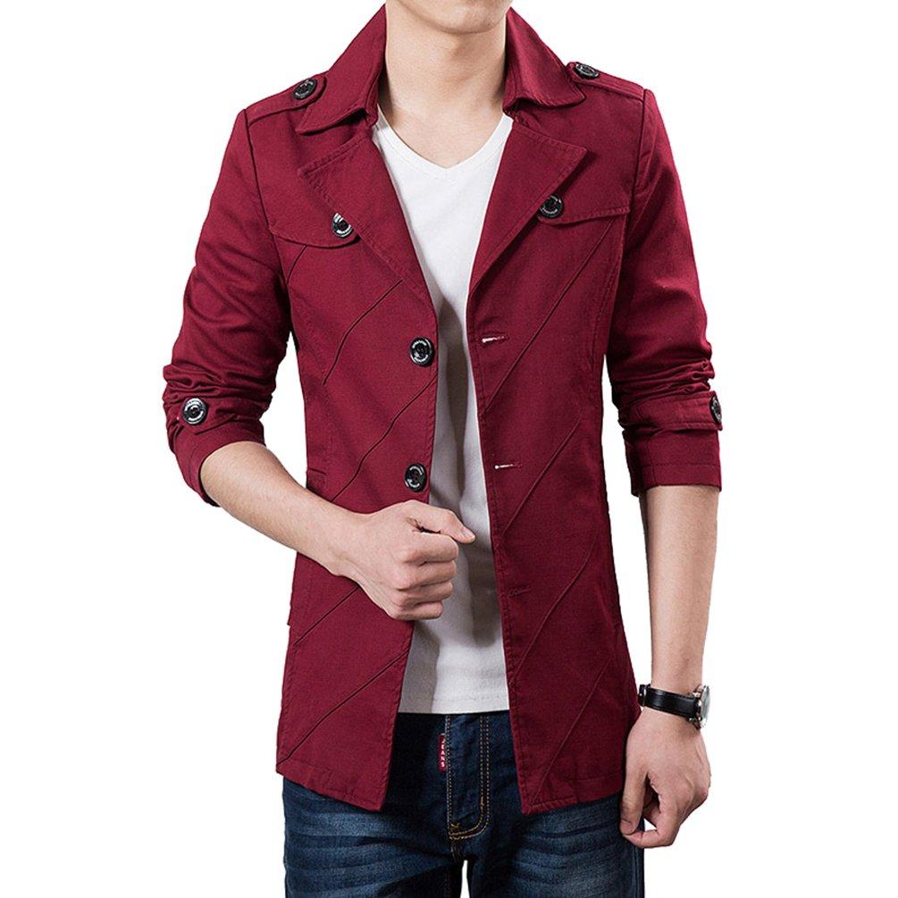 YiLianDa Herren Sakko Sweatjacke Slim Fit Blazer Anzug Casual Jacke Modisch Freizeit Outwear