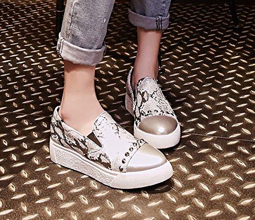 Charme Voet Dames Chique Puntschoen Dierlijk Afdrukken Platform Loafer Schoenen Multicolor