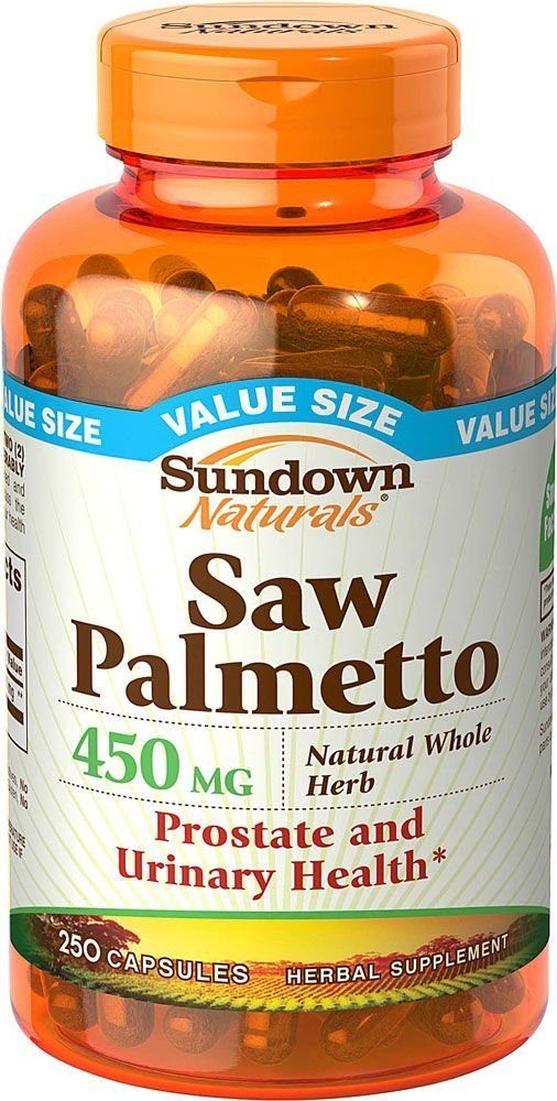 Sundown Saw Palmetto 450 mg Capsules 250 ea (Pack of 12)
