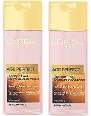 L'Oréal Paris, Tonico occhi e viso Age Perfect, per pelli mature, 2 pz.