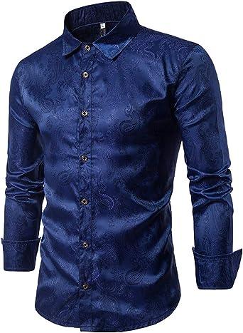 Hombre Camisetas Camisa de Manga Larga Simple Camiseta clásica Casual Blusas cómodas: Amazon.es: Ropa y accesorios