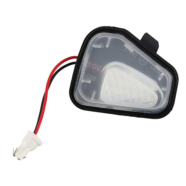 SODIAL 2 Pcs Led L/ámpara de Luz de Charco de Espejo de Lado Debajo para VW Volkswagen CC 12-14 EOS Passat B7