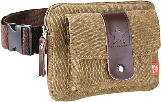 Genda 2Archer Genuine Leather Waist Pack Fanny Cross Body Bag for Sport Travel