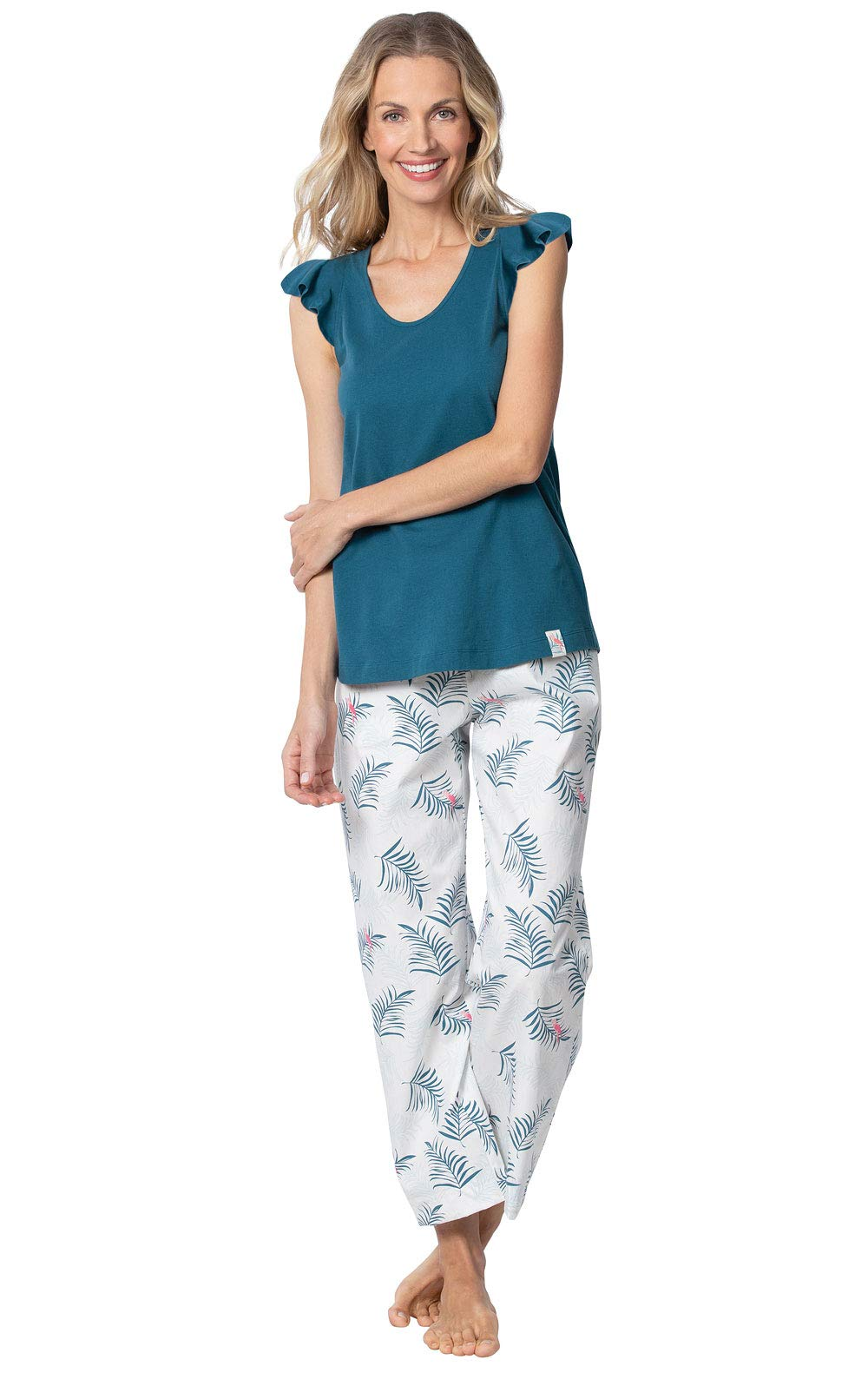 Margaritaville Capri Pajamas for Women - Summer PJs by PajamaGram, Blue, M 8-10 by PajamaGram