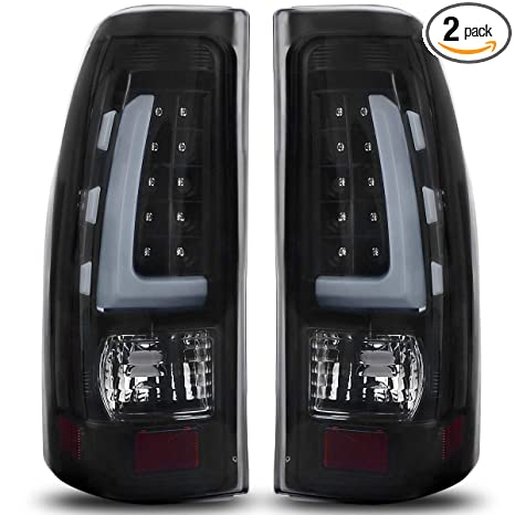 Smoke Led Tail Lights For 1999 2006 Chevy Silverado Gmc