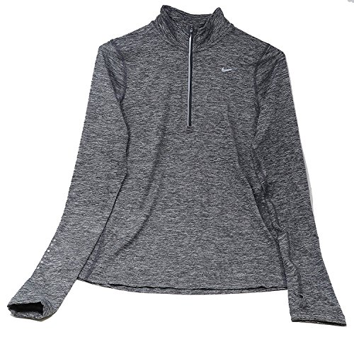 Nike Women's Element Half Zip - Dark Grey Silver - Medium