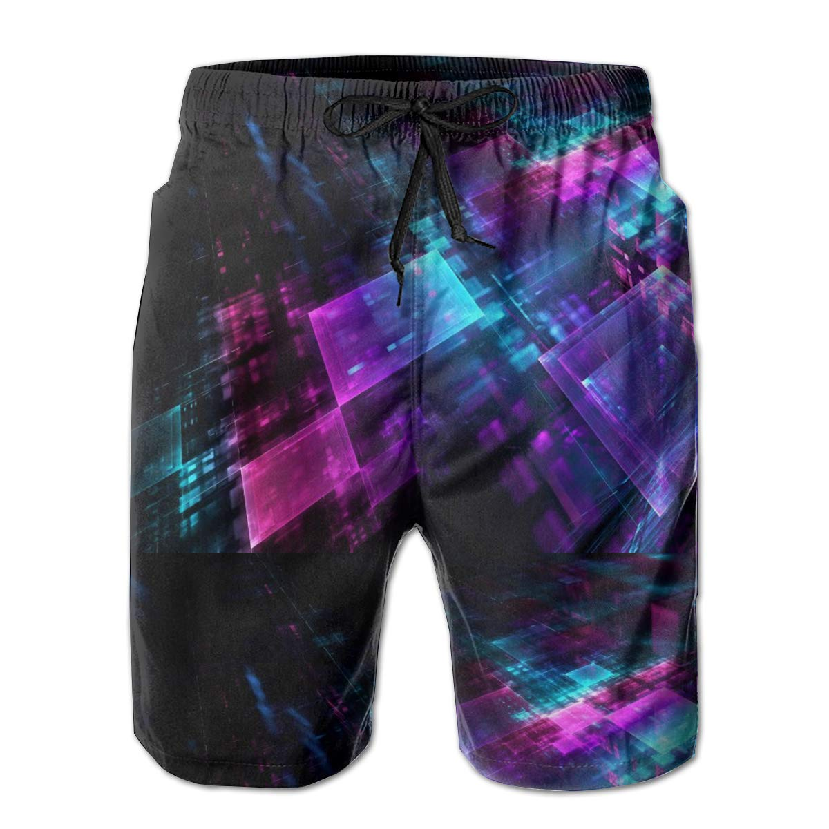 Jngjs Summer Holiday Beach Board Shorts with Drawstring Beach Pants