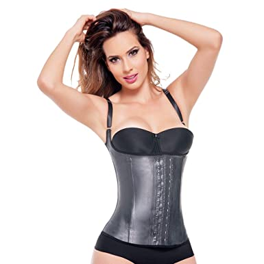 e2bcac4bca Ann Michell (2028) Semi Vest Latex Waist Cincher 48 Black at Amazon ...