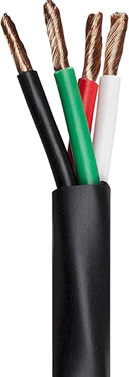 Monoprice Nimbus Series 12 Gauge AWG 2 Conductor CMP-Rated Speaker Wire//Cable 100ft UL Plenum Rated 100/% Pure Bare Copper With Color Coded Conductors