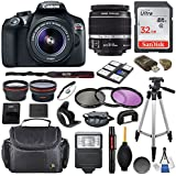 Canon EOS Rebel T6 DSLR Camera with EF-S 18-55mm f/3.5-5.6 IS II Lens & SanDisk Ultra 32GB Class 10 Memory Card + Accessory Bundle