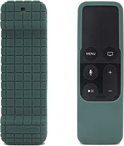 Veamor Silicone Case Cover for Apple TV 4K 5th / 4th Gen Remote, Anti Slip Rubber Protective Skin Soft Bumper for Apple TV Siri Remote Controller (Midnight Green)