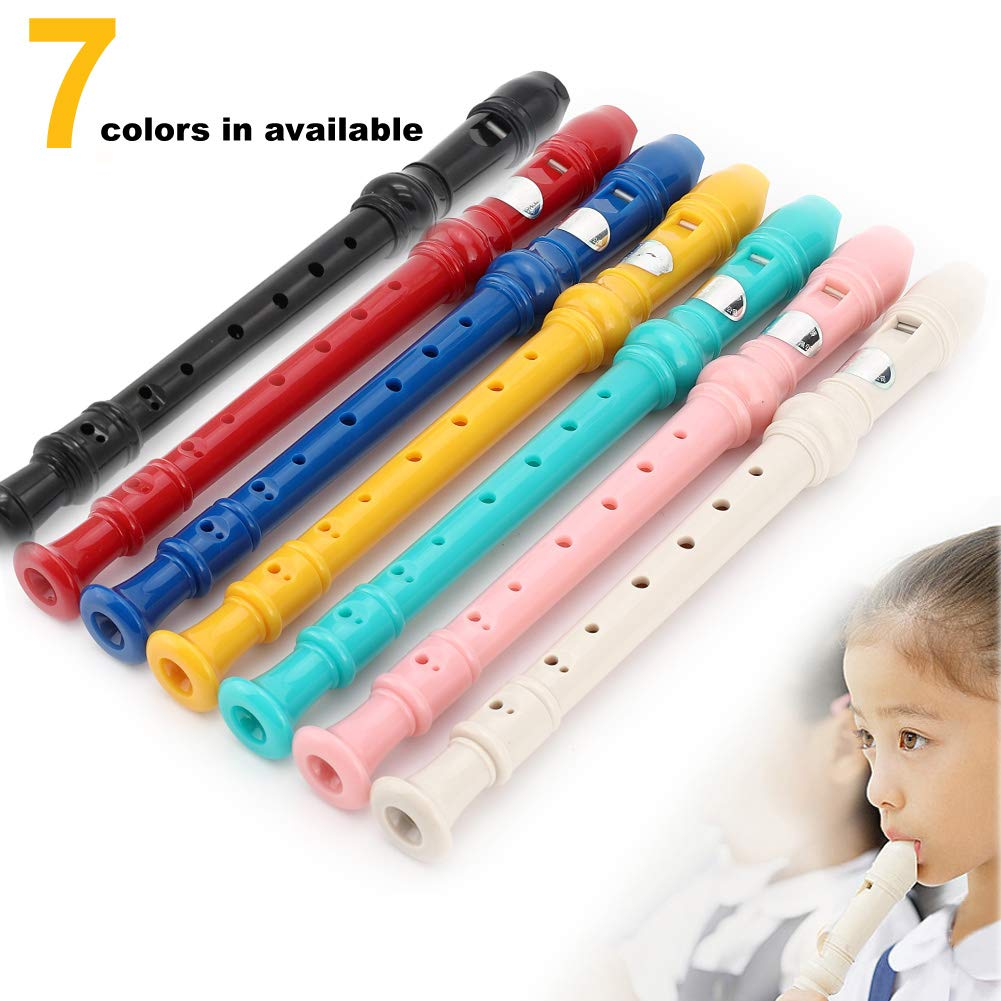 8Bees Soprano Recorder Descant Recorder Basic Musical Instrument for School (Blue)