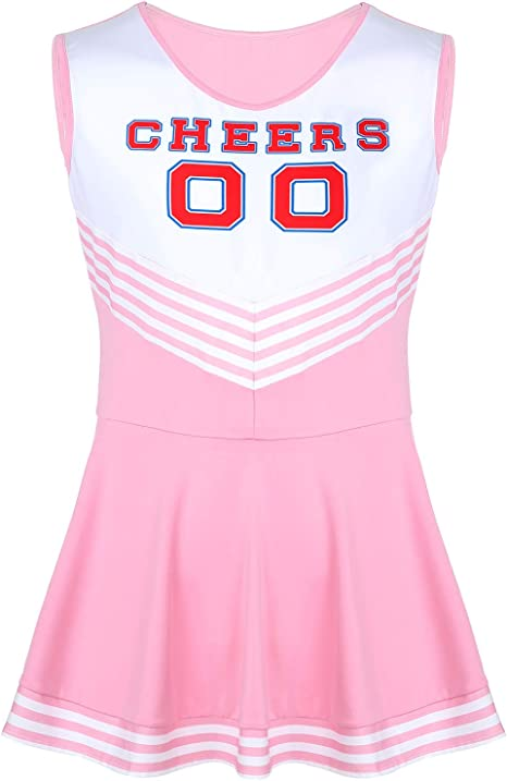 inlzdz Disfraz de Animadora para Hombre Cosplay Cheerleaders ...
