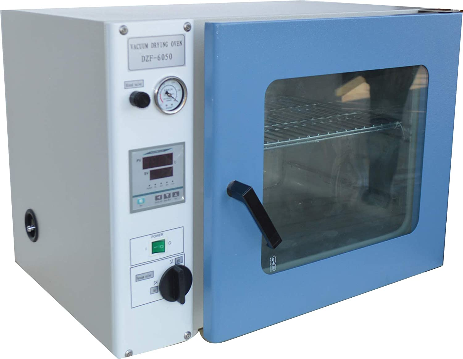INTBUYING 110V 0.9 Cu Ft Lab Furnace Equipment Vacuum Drying Oven Air Convection LCD