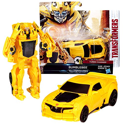 - Transformers Year 2016 The Last Knight Movie Series 1 Step Changer 5 Inch Tall Figure -BUMBLEBEE (Vehicle Mode: Chevy Camaro)