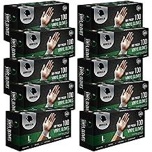 1000 Rip Proof Vinyl Gloves Large L, Powder Free