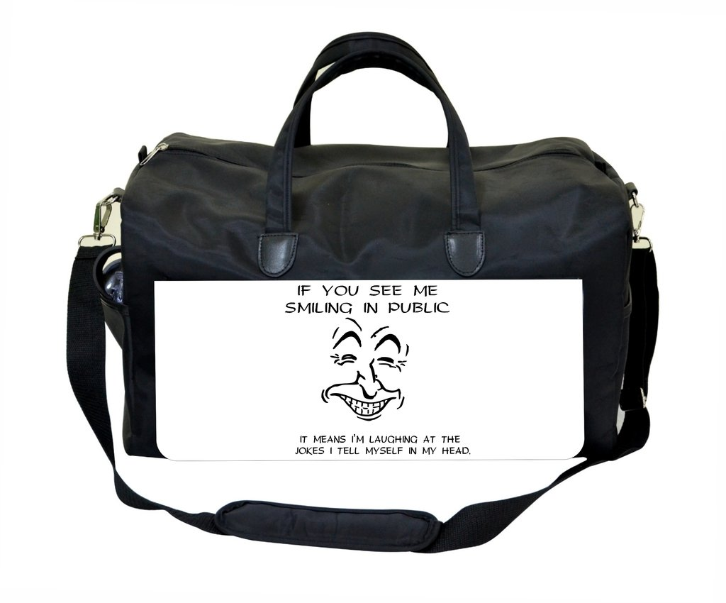 If You See Me Smiling In Public/…Novelty Quote Therapist Bag