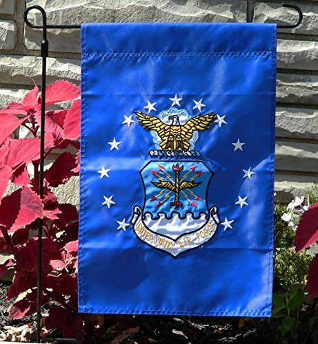 12x18 United States Air Force Garden Flag Nylon Embroidered USAF Military ()