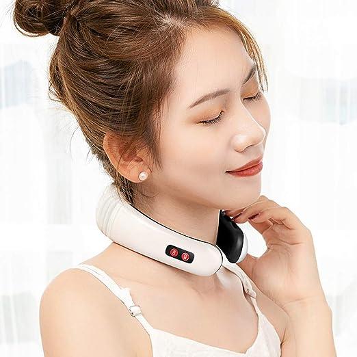 Amazon.com: Masajeador eléctrico de cuello de pulso de MAGLONG, instrumento  de tratamiento de vértebra cervical, masajeador de almohada de cuello  terapéutica, herramienta de alivio magnético de acupuntura  fisioterapéutica: Health & Personal Care