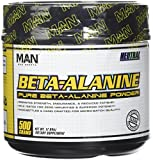 MAN Sports Beta Alanine Powder, Neutral, 500 Gram