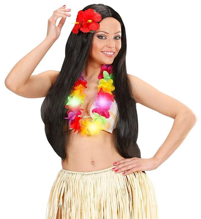 Hawaiikette für Kostüm Hawaii Beachparty Mottoparty Kette Blüten