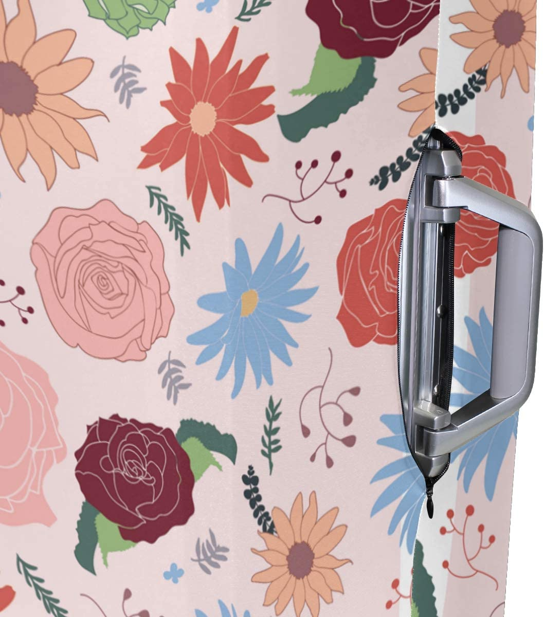 18//22//26//29 Inch Travel Suitcase Luggage Protective Cover with Flower Whisper