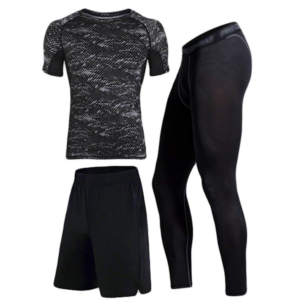 Dooxii Homme 2 Pièces Vêtements de Sport avec T Shirt