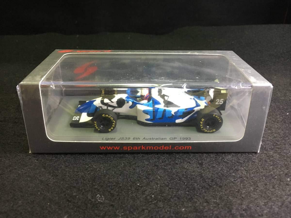 スパーク 1/43 リジェ JS39 1993 F1 オーストラリアGP #25 M.ブランドル B07SRHW8M6