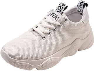 Dtuta Baskets Femme Course Running Compétition Sport Trail Entraînement Femme, Chaussures de Sport à Lacets Pour Femmes Chaussures de Sport à Lacets Pour Femmes