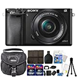 Cheap Sony Alpha A6000 Mirrorless Digital Camera with 16-50mm Lens (Black) and 64GB Accessory Kit