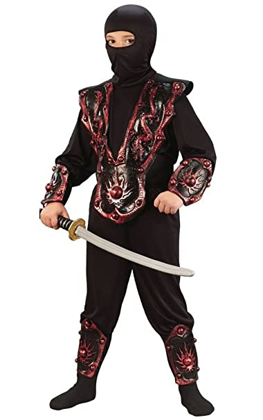 Amazon.com: Boys Silver Ninja Warrior Costume: Toys & Games