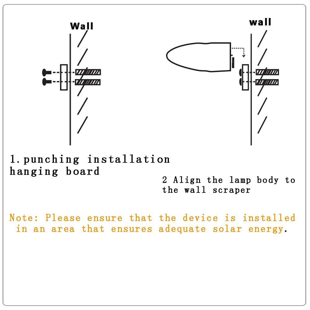 LED Luz Solar,3 Modos Luces de Exterior Lámpara de Jardin con Sensor de 360° Gran Angular Radar Movimiento de Iluminación Solar Impermeable de Exterior para ...