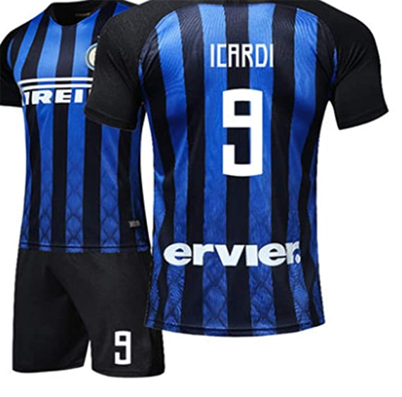 775434503d2 LISIMKE 2018-19 Inter Milan Home Football Soccer Jersey Icardi 9 at ...