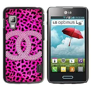 iKiki Tech / Estuche rígido - Leopard Pattern Brand Fashion - LG Optimus L5 II Dual E455 E460