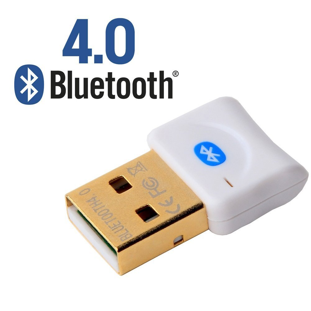 Windows 7 and 10 Plug and Play USB Bluetooth 4.0 Adapter Dongle - PC - by Five Digits Ltd ( WHITE) BL02