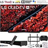 LG OLED55C9PUA 55' C9 4K HDR Smart OLED TV w/AI ThinQ (2019) w/Soundbar Bundle Includes, Deco Gear Home Theater Surround...
