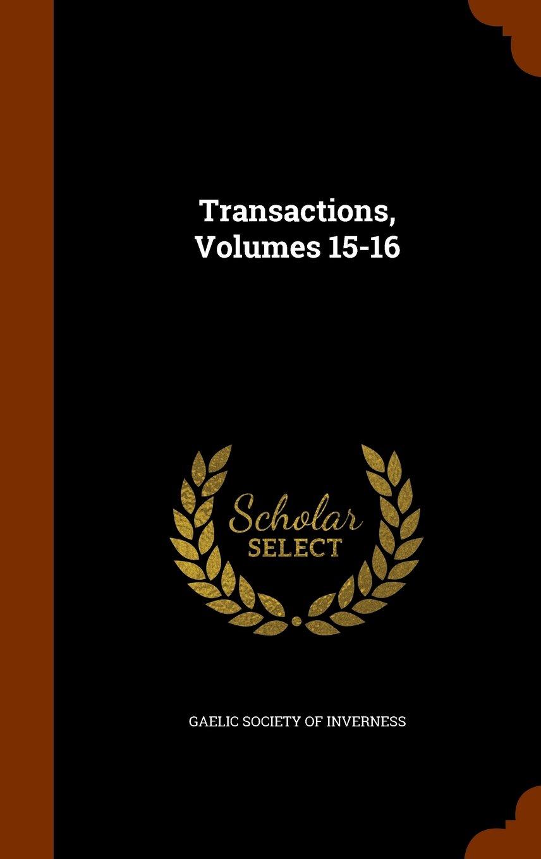 Download Transactions, Volumes 15-16 PDF