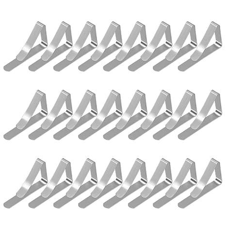eZAKKA Pinzas de Mantel de 24 Pcs, Clip de Mantel para Mesas de Metal,