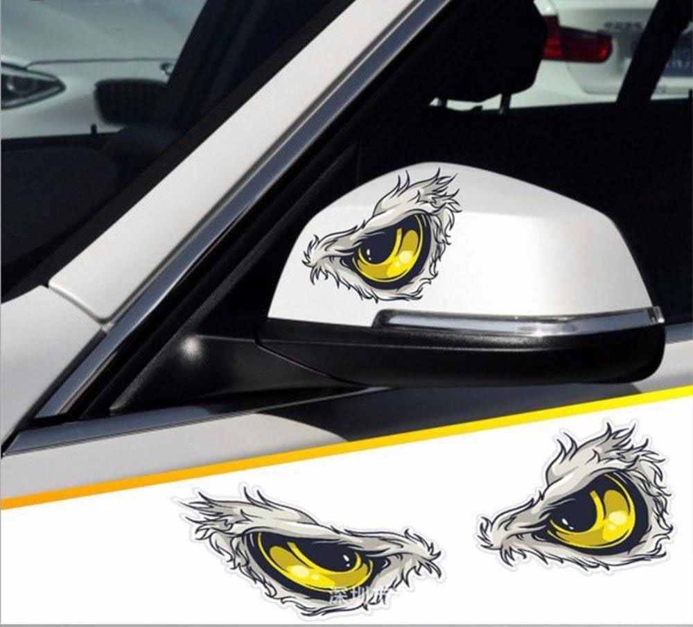 3D Cat Eyes Car Truck Mirror Stickers Window Decal Sticker Reflective Decals