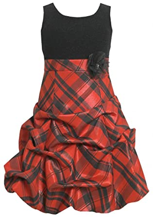 Amazon Sparkle To Metallic Plaid Pickup Bubble Dress