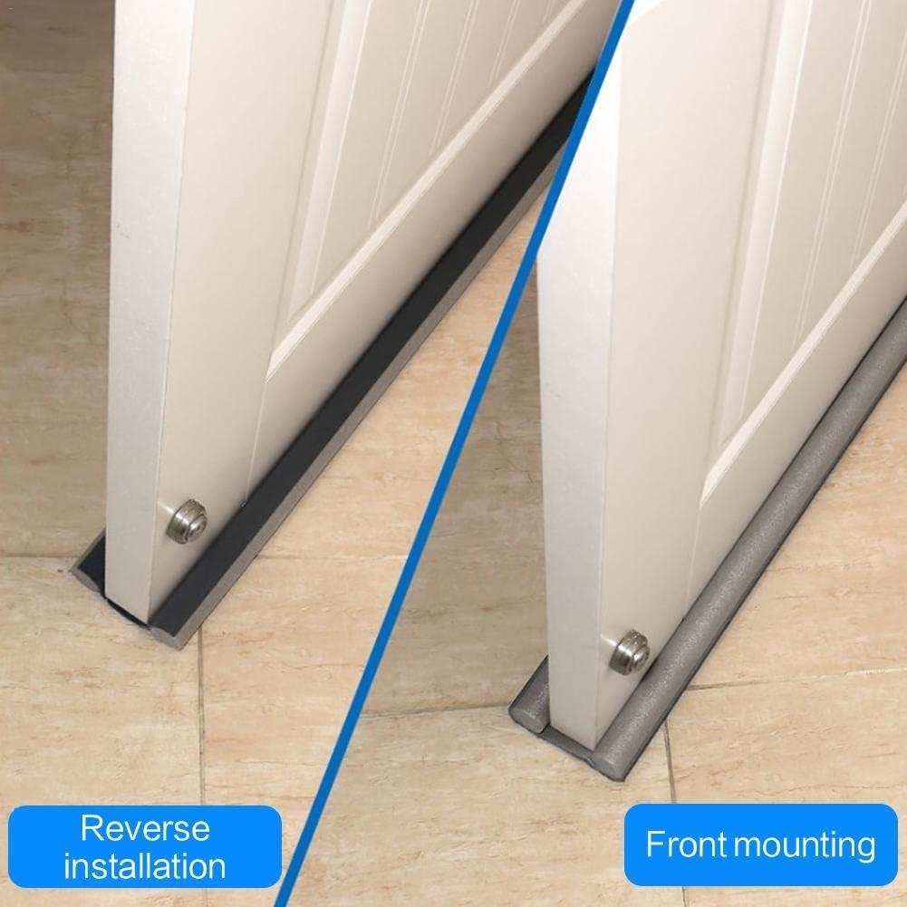 para puerta de seguridad Burlete para puerta de 3 piezas con tira de sellado inferior para puerta a prueba de sonido a prueba de sonido y a prueba de polvo