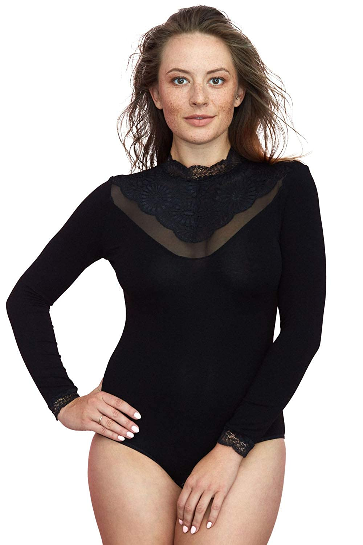 Vestiva Body Femminile Pizzo Scollatura Alto BDV 128  Amazon.it   Abbigliamento 6ae8e35389aa