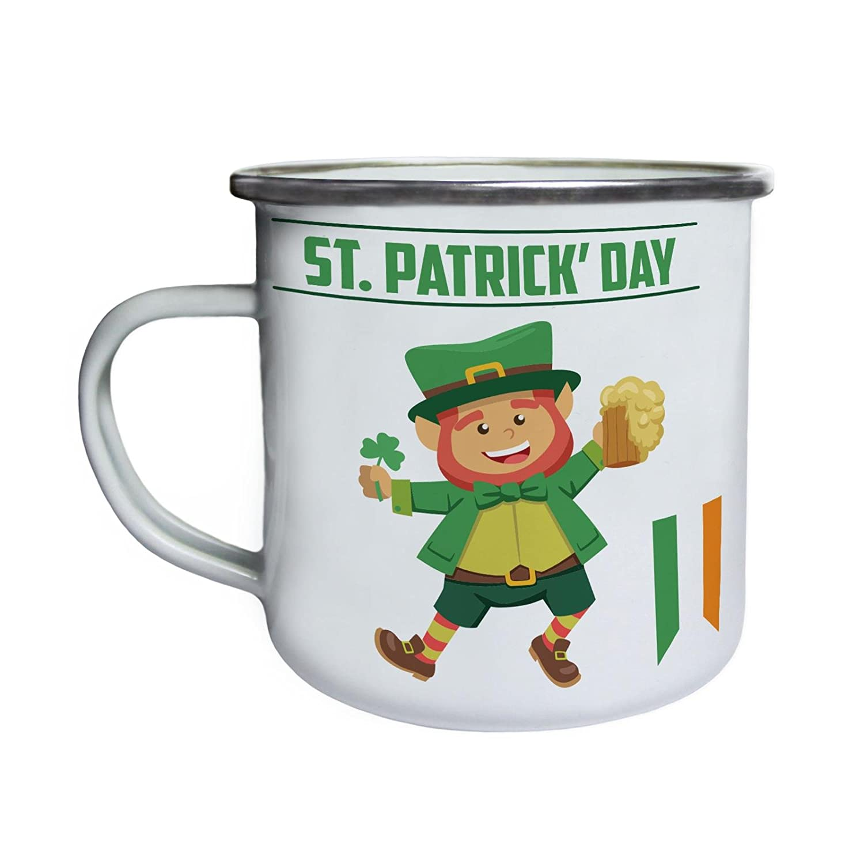 St Patrick s Day Irish Lustiges Irland Retro, Zinn, Emaille 10oz ...