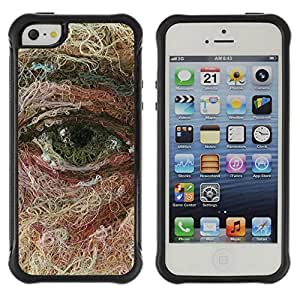 LASTONE PHONE CASE / Suave Silicona Caso Carcasa de Caucho Funda para Apple Iphone 5 / 5S / Face Art Painting Deep Meaning