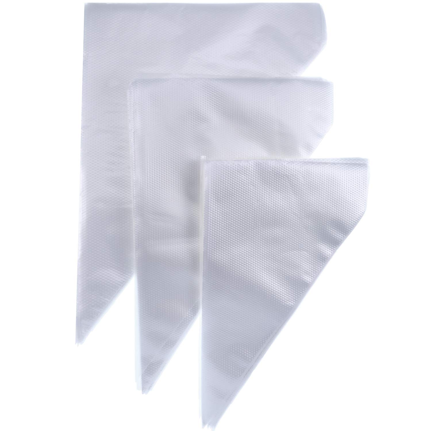 Jovitec 300 Pieces Disposable Icing Piping Bag Cake Pastry Bags Cupcake Decorating Bag Cookie Baking Frosting, 3 Sizes