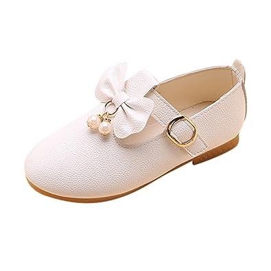 Ballerine Bambina Ballo Scarpe 🎀 Eleganti Tinta Unita Ciondolo Perla Ballo da  Scarpe - Scarpe da 8e8e2433407