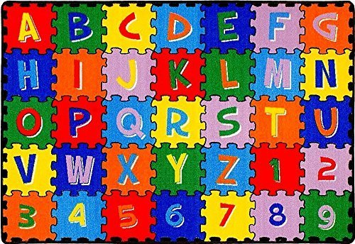 CR'S 8FTX11FT KIDS EDUCATIONAL/PLAYTIME RUG 7FT.4INX10FT.4IN PLEASE CHECK ALL PICTURES (ABC PUZZLE) ()